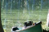 Hoe de berg een Trolling Motor met een kano
