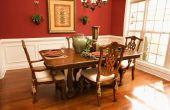 Hoe Reupholster gepolsterde eetkamer stoelen
