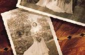 Het rangschikken van foto's voor een begrafenis op Poster planken