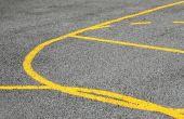How to Make lijnen op een basketbalveld achtertuin