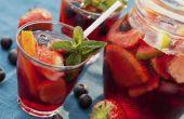 Hoe Sangria wijn worden bediend