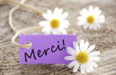 """Hoe om te zeggen """"Thank You"""" in het Frans"""