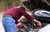 Hoe schoon batterij Terminal corrosie