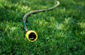 Het gebruik van een tuin slang te verwarmen van een Pool