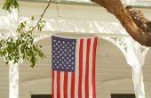 Hoe om te hangen van een Banner van de Amerikaanse vlag