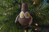 DIY: Owl Christmas lamp ornamenten