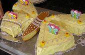 Hoe maak je een dagvlinder vormige Cake