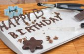 Hoe maak je chocolade decoraties voor Cakes