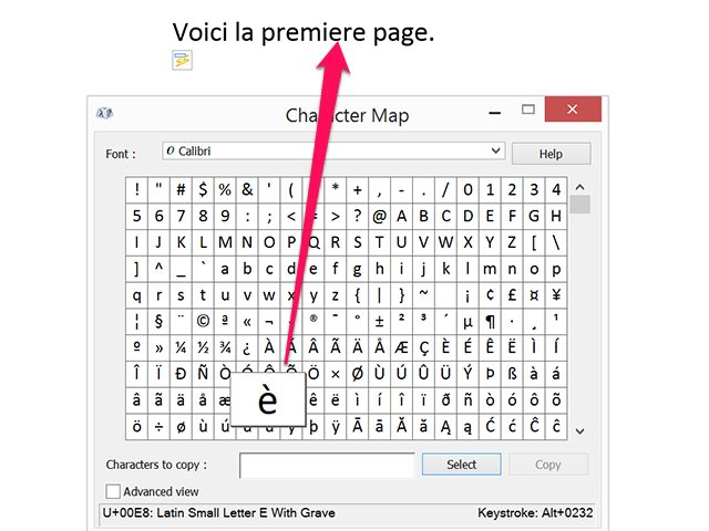 lijst symbolen word mac