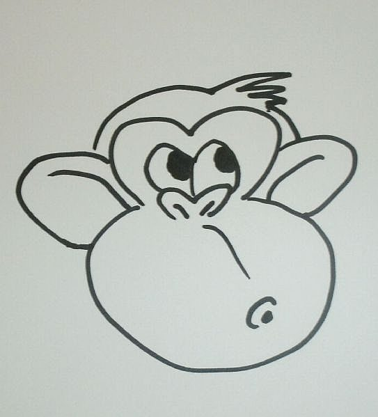 Spiksplinternieuw Hoe teken je een Cartoon aap Step by Step - wikisailor.com JL-99