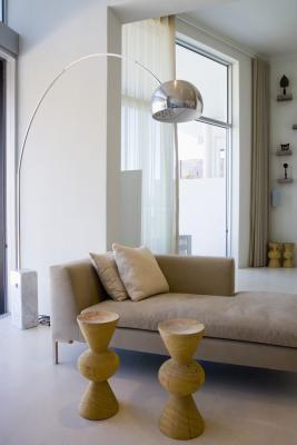 gedeeltelijke en kraan stijl gordijn staven worden vaak gebruikt voor windows of venster muren waar traditionele gordijnen zal niet werken
