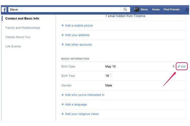 Het wijzigen van uw verjaardag op Facebook - wikisailor.com