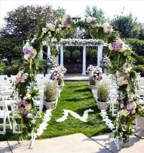 Spiksplinternieuw Tuin bruiloft dat Ideeën verfraait - wikisailor.com DE-68