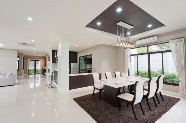 Hoe te te verfraaien van een L-vormige woonkamer & eetkamer ...