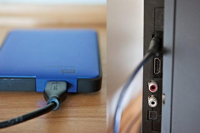 verbinding computer met tv