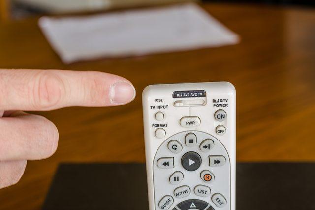 mute knop afstandsbediening