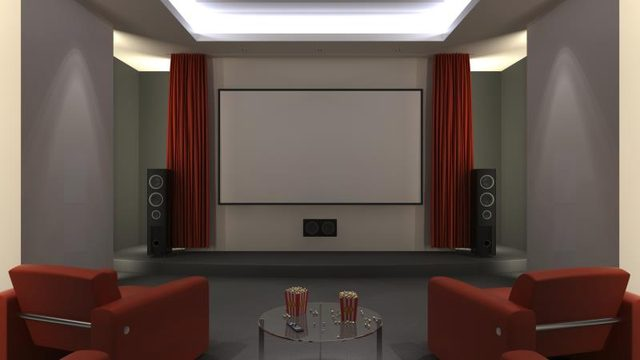 Verf kleur idee n voor een home theater kamer - Welke kleur verf voor een kamer ...